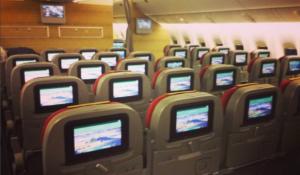 La nuova Economy sul Boeing 777-200. Foto Instagram @federico_platania