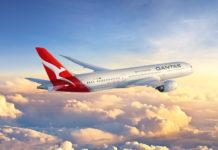 Una rappresentazione grafica del Boeing 787-9 nei colori Qantas (C) Qantas