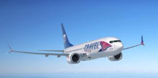 Boeing 737 MAX in livrea Travel Service
