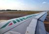Un Airbus Alitalia in decollo da Linate (C) Davide Secci, Archivio Associazione Italiana Aviazione Civile