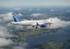 (C) Bombardier Media Library - Un C-Series CS100 durante la fase di test