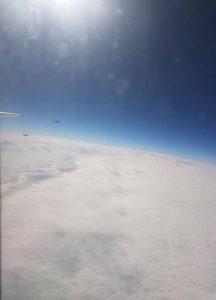 Foto dei caccia ungheresi durante l'intercettazione del volo Air India (credits, India Today)